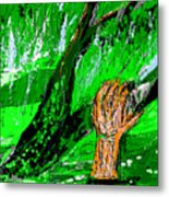 Sculptured Falling Tree Metal Print