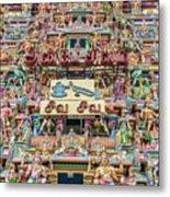 sculptures on Arulmigu Kapaleeswarar Temple, Chennai, Tamil Nadu Metal Print
