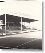 Scunthorpe United - Old Showground - Main Stand 1 - Bw - 1960s Metal Print