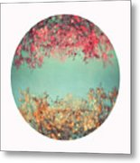 Gold And Pink Metal Print