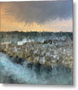 Sea And Stones Metal Print