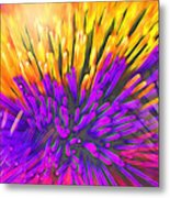 Sea Anemone Abstract - Kooosh Ball Metal Print