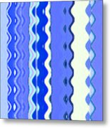 Sea Blue Wave Tapestry Metal Print