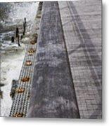 Sea Cliff Seawall Boardwalk Metal Print