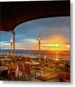 Sea Cruise Sunrise Metal Print