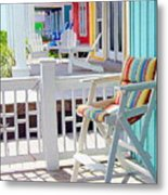 Sea Dreams Beach Chairs Metal Print