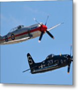 Sea Fury And Bearcat Metal Print