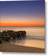 Sea Girt Pilings  Metal Print