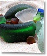 Sea Glass From Bermuda Metal Print