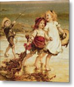 Sea Horses Metal Print by Frederick Morgan