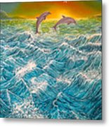 Sea In Action Metal Print