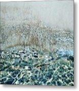 Sea Meets Sand Metal Print