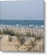Sea Oats By The Ocean Metal Print