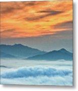 Sea Of Clouds By Sunrise Metal Print by SJ. Kim
