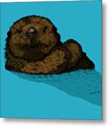 Sea Otter - Full Color Metal Print