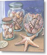 Sea Shell Collection Metal Print