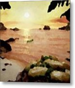 Sea Shore.sunset Metal Print
