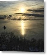 Sea Smoke At Sunrise Metal Print