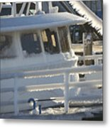 Sea Spray Ice Metal Print