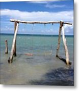Sea Swing Metal Print