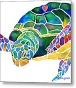 Sea Turtle Celebration 4 Prints Only Metal Print