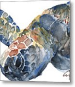 Sea Turtle - Large Size Metal Print