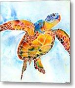Sea Turtle Gentle Giant Metal Print