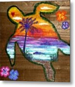 Sea Turtle Love Metal Print
