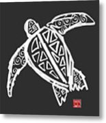 Sea Turtle Love Metal Print