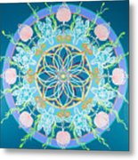 Sea Turtle Mandala  Metal Print