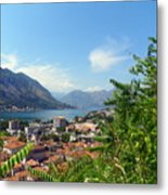 Sea View From Kotor Metal Print by Elizabeth Fontaine-Barr