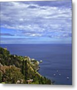Sea View From Taormina Metal Print