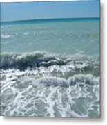 Sea Waves In Italy Metal Print