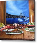 Seafood Feast Metal Print