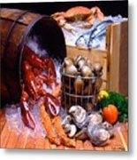 Seafood Fresh Metal Print by Vance Fox