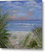 Seagrasses At Sunrise Metal Print