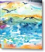 Seagull Seas Metal Print