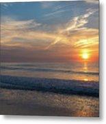 Seagull Sunrise Along The Jersey Shore Metal Print