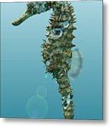 Seahorse 3d Render Metal Print