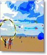 Seal Beach Kite Fly Metal Print