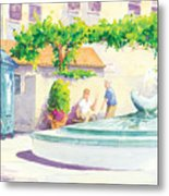 Seal Fountain Metal Print