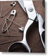 Seamstress Scissors Metal Print