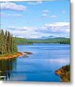 Seaplane On Talkeetna Lake, Alaska Metal Print