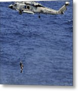 Search And Rescue Swimmers Metal Print
