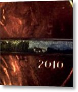 Searching Tiger Needle And Penny  Metal Print