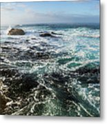Seas Of The Wild West Coast Of Tasmania Metal Print