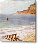 Seascape At Sainte Adresse  Metal Print