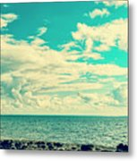 Seascape Cloudscape Instagramlike Metal Print
