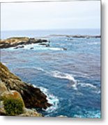 Seascape From Point Lobos State Reserve Near Monterey-california  Metal Print