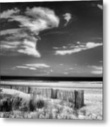 Seascape In Black And White Metal Print